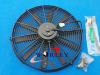 "14"" 12V Bend Pull/Push Slim Radiator Electric Thermo Fan+Mounting Kits 14 inch"