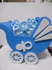 PORTACONFETTI CARROZZINA 10 confettate ciuccietto  idea regalo Nascita Battesim