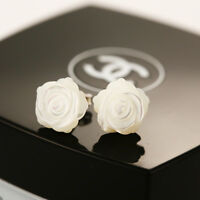 925 Sterling Silver Post Genuine White Mother of Pearl Flower Stud Earrings Gift