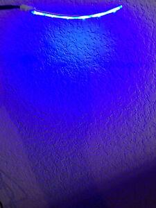 Aquarium LED BLUE MOON Light 6 LEDs Strip 30 Lumens + Power Nano cube fish Lunar