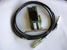 HP NC550SFP Dual Port 10GbE Server Adapter PCI-e x8 HP S/p 586444-001 +SFP Cable