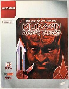 Star Trek The Next Generation Klingon Honor Guard 1998 2 Disc PC CD-Rom Big Box