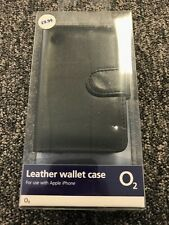 GENUINE LEATHER O2 WALLET CASE FOR APPLE iPHONE 3GS / 3G - RRP £9.99