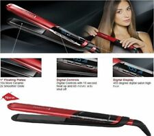 NEW 2017 S9600 Remington Silk Ceramic 1 Digital Hair Flat Iron Straightener Red
