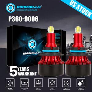 4 Sides 9006 HB4 LED Fog Light Bulbs for Dodge RAM 1500 2500 3500 2013-2018 COB