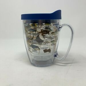 Tervis Guy Harvey Fish Charts Insulated Tumbler with Blue Lid 16oz Mug