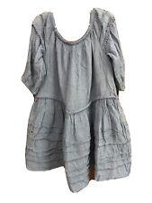 polo ralph lauren Girls Blue 3/4 Sleeve Dress Size 7