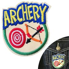 Archery iron on patch bow arrow target sport embroidery iron-on transfer patches