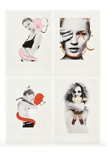 KAWS NGV David Sims Postcards Kate Moss Set of 4 Exclusive KAWS Companions GONE