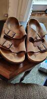Birkenstock Arizona Tan Suede Sandals EU 40 Women 9-9.5 Pre-owned