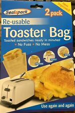 4 Re-usable Toaster Bag Toastie Sandwich Toast Bags Pockets Toasty Toastabag