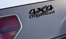 4x4 OFF ROAD Tire Track Decal Sticker Truck TRD Tacoma Jeep Dodge Chevy Ford Blk