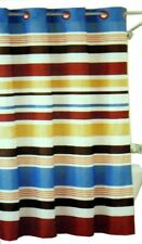 Century Stripe HOOKLESS Fabric Shower Curtain w/ Magnetic Hem ~FREE SHIP CONT US