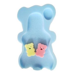 Baby Bath Seat Infant Slip Soft Bath Body Cushion Sponge Bathtub Mat +2pcs F LB