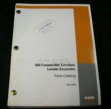 CASE 888 Crawler 888 Turntable Leveler Excavator Parts Manual Book Catalog OEM