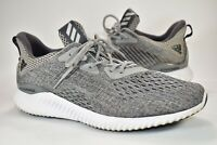 Adidas Alphabounce Bounce Running Shoes White Gray Black Mens Size 9.5 Training