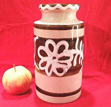 Besonders schön mit Fat Lava handdekorierte Vase Scheurich 70er Jahre  203-18