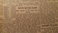 APR 4, 1922 NEWSPAPER PAGE #J5716- BABE RUTH, CHARLOTTE BEES, BENNY LEOANARD