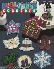 Holiday Coasters Plastic Canvas Patterns Christmas Winter Annie's Attic 1994 NEW