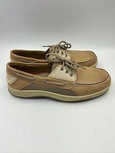 Sperry Mens billfish tan/beige boat shoe size 11 M , 238