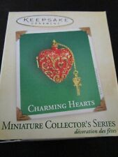 2004 Hallmark Keepsake - Charming Hearts - Miniature Ornament 100% Mint!