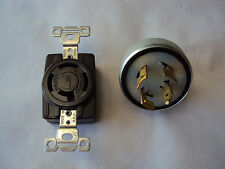 NEW ! LOT OF 2   MALE & FEMALE  20A 250V / 10A 600VAC