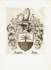 ANONYM: heraldisches Exlibris für Familie Fopp
