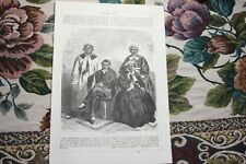 1866  Stich 105 / Tasmanien Australien die letzten Tamanier