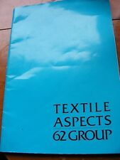 Textile Aspects 62 Group, catalogue embroidery, Seven Dials, London show 1982