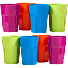 4 Pcs Plastic Cups Bright Color Home Use Juice Drinks Cup Kids Cups  420ml