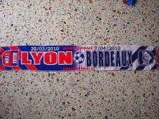 sciarpa OLYMPIQUE LYONNAIS - BORDEAUX champions league 2010 football club scarf