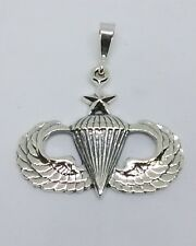 Sterling Silver U.S. Army Airborne  Senior  Jump Wing pendant