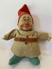 1930's Rare Chad Valley Dopey from Snow White & 7 Dwarfs 6� Cloth Doll Disney