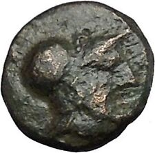 Mesembria in Thrace 350BC Authentic Ancient Greek Coin ATHENA Cult Wheel i50135