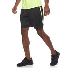 Tek Gear Mens Shorts XL Extra Large NWT Black Athletic Electric Yellow