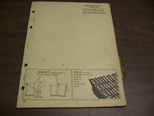 12070 John Deere Parts Catalog Pc-767 Chopper rotary model 10 15 dated 2 62