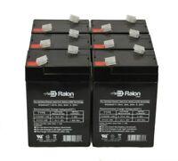 NPP 6V 4Ah Rechargeable SLA Battery For BT4-6 CA640 Exit Sign Power Wheels(2pcs)
