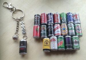 Personalised football and novelty can keyring. Free gift bag. Fathers day