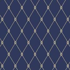 NY4847 Knot Trellis Blue Rope Trellis York Wallpaper