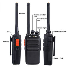 Neu Retevis RT24 PMR446 Funkgeräte Walkie Talkies 0.5W Zweiwegradios Two Way Hot