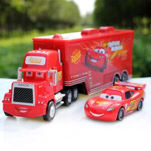 DISNEY PIXAR CARS LIGHTNING MCQUEEN TRUCK & MACK SUPERLINER CAR DIECAST KIDS TOY