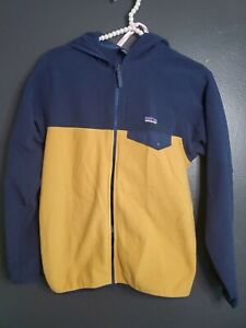 Kids Youth Patagonia Fleece Jacket Blue and Gold Size 14