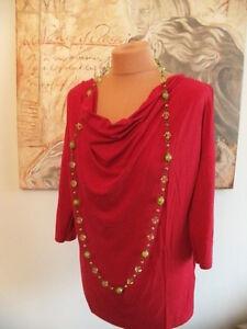 Süßes rotes Stretch Shirt  Größe L  Pullover
