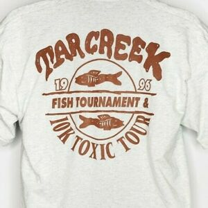 Tar Creek Fish Tournament T Shirt Vintage 90s 1996 10K Made In USA Size Large