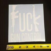 Large F**k Gun Control Vinyl window decal sticker AR AK Patriotic  Multi Colors