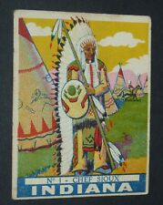 CHROMO INDIANA DONAT 1930-1935 INDIENS PEAUX-ROUGES FAR WEST USA #1 CHEF SIOUX