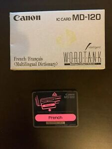 Canon IC Card French Word Tank Multilingual Intelligent Dictionary MD-120