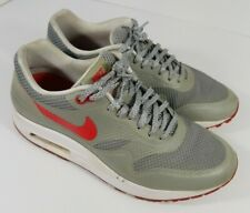 Nike Air Max 1 Fuse Matte Silver Hyper Red White 580783-001 Womens Size 8.5 US
