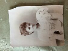 a2i ephemera edwardian photograph girl in white dress corner wear