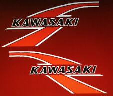 Tanque De Gasolina Kawasaki KV75 Mono Bicicleta Calcomanías 2 1976 Rojo